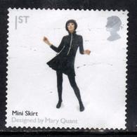 GB 2009 QE2 1st British Design Classics Mini Skirt S/Adhes SG 2915 ( E63 ) - Gebraucht