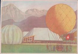 Luzern 1954, Ballonpostkarte, 11. Schweizerische Ausstellung Für Landwirtschaft, Forstwirtschaft & Gartenbau (11.10.54) - LU Lucerne