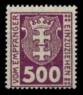 DANZIG PORTOMARKEN Nr 19X Postfrisch X8973FA - Danzig