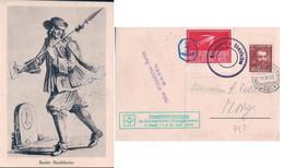 Basel, Schweizerische Philatelisten - Verein, Vignette Ausstellung Wien 1933, Cachet Motorshiff Rheinfelden (11.6.1932) - LU Lucerne