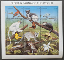 1999Liberia2338-2349KLFauna7,00 € - Sperlingsvögel & Singvögel