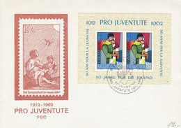 Bloc Pro-Juventute No J199 - Bloc Commémoratif Du Cinquantenaire 1962 Sur Lettre FDC - Cartas