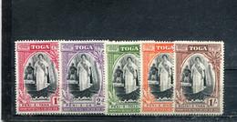 Tonga 1944 Yt 82-86 * - Tonga (...-1970)