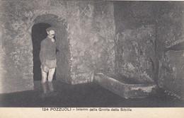 POZZUOLI-NAPOLI-INTERNO GROTTA DELLA SIBILLA-CARTOLINA  NON VIAGGIATA-ANNO 1915-1925 - Pozzuoli