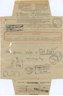 TÉLÉGRAMME ARSENAL TOULON S MER  Pour BORDEAUX TàD BORDEAUX-CAL MORSES 24 V 1938 + BORDEAUX-CAL ARRIVÉE + OMec FLIER - Documents Of Postal Services
