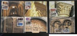 Série De 6 Cartes Maximum Cards Art Roman 2010 Medieval Moyen Age Ref B748 - 2010-...