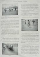 Polo à Bicyclette - Une Reprise - Le Lancement De La Balle - Page Originale 1898 - Historische Documenten