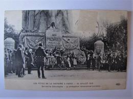 FRANCE - PARIS - Devant Le Cénotaphe - La Délégation Alsacienne-Lorraine - Fêtes De La Victoire 1919 - Otros