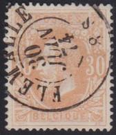 Belgie   .  OBP   .   33     .    Flemalle         .     O .    Gebruikt  . / .   Oblitéré - 1869-1883 Leopoldo II