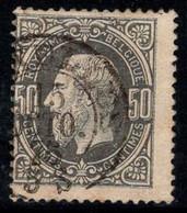 Belgique 1869 Mi. 32 A Oblitéré 40% 50 C, Roi Léopold II, Personnalité - 1869-1883 Leopoldo II