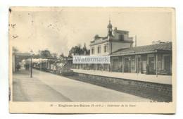 Enghien-les-Bains (95) - Intérieur De La Gare, Train à Vapeur, Steam Train, Railway Station - écrit 1906 - Enghien Les Bains