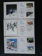 Série De 3 FDC Coupe Du Monde Ski Alpin 2009 Val D'Isère 73 Savoie Ref 773 - 2000-2009
