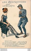 MILITARIA WW1  Les Restrictions Sur La Toilette  ......... Femme Avec Bas - Humorísticas
