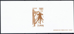 2006 Gravure Jeux Olympiques D'hiver 2006 à TURIN  Sur Papier Velin - Documents Of Postal Services
