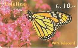 SWITZERLAND - PHONE CARD - PRÉPAYÉE TELELINE  ***  PAPILLON  *** - Papillons