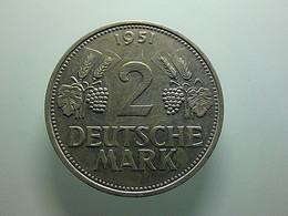 Germany 2 Mark 1951 F - 2 Mark