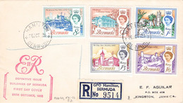 BERMUDA - FDC 1962 Mi #168-169, 171-173 / K4-23 - Bermuda
