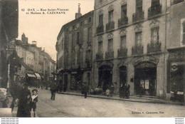 D40  DAX  Rue Saint Vincent Et Maison A.Cazenave - Dax