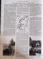 1921 CYCLO TOURISME EN ALSACE - COLMAR - STRASBOURG - KAYSERBERG - OBERNAI - HAUT KOENIGSBOURG - Unclassified