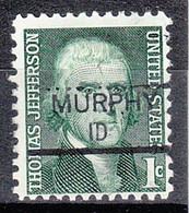 USA Precancel Vorausentwertung Preo, Locals Idaho, Murphy 835.5 - Voorafgestempeld