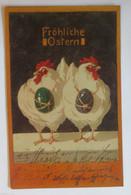 Ostern, Huhn, Osterei, Jugendstil, 1911  ♥ (30746) - Pasqua