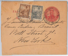 40400 - ARGENTINA - POSTAL HISTORY - STATIONERY WRAPPER + Libertad Sentada  To USA - Postal Stationery