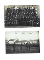 54 - BACCCARAT - 2 CP PHOTO Militaires Remise Medaille Et Groupe Legere Pliure Sur Groupe Sinon Bon Voir Scan - Baccarat