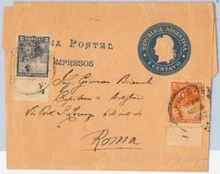 40399 - ARGENTINA - POSTAL HISTORY - STATIONERY WRAPPER + Libertad Sentada  To ITALY - Postal Stationery