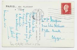 DULAC 2FR40 SEUL CARTE PARIS 117 17.XI.1945 POUR BELGIQUE AU TARIF 2FR40 PEU COMMUN - 1944-45 Maríanne De Dulac