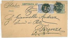 30343  - ARGENTINA - POSTAL HISTORY - Stationery NEWSPAPER WRAPPER To ITALY  1881 - Postal Stationery
