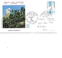 FRANCE N° 1820 SUR FDC L'AIGRETTE - Cranes And Other Gruiformes