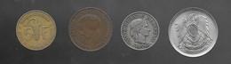 Lot De 4 Monnaies : Egypte / Suisse / Luxembourg / Ouest Afrique (1052) - Lots & Kiloware - Coins