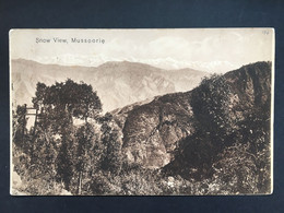 INDIA - Mussoorie Snow View 1900`s - Inde