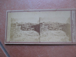 Fotografia Stereoscopica Eruzione VESUVIO Fotografo Alphonse BERNOUD Studio Napoli Firenze Livorno - Pompei