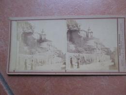 Fotografia Stereoscopica DA IDENTIFICARE Fotografo Alphonse BERNOUD Studio Napoli Firenze Livorno - Pompei