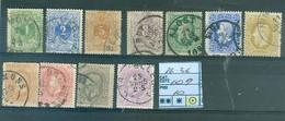 26-36    Oblitéré Côte  109 € - 1869-1883 Leopoldo II