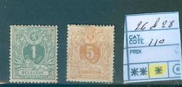 26 Et 28 X Côte  110 € - 1869-1883 Leopoldo II