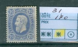 31 X Côte  170 € - 1869-1883 Leopoldo II