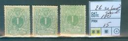 26  3x Pointe De Rouille Xx Côte  180 € - 1869-1883 Leopoldo II