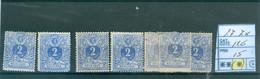 27  7x  (x) Côte  126 € - 1869-1883 Leopoldo II