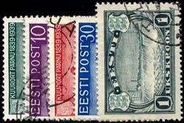 ESTLAND 148-51,159 O, 1939/40, Pernau Und 1 Kr. Freimarke, üblich Gezähnt Pracht, Mi. 35.- - Estland