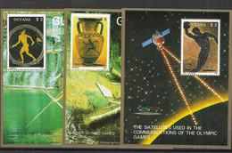 GUAYANA Nº  1769FA AL 1769FC EN HOJITAS - Verano 1988: Seúl