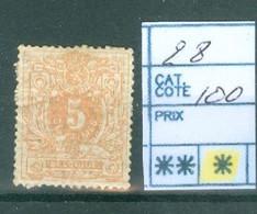 28  X Côte  100 € - 1869-1883 Leopoldo II