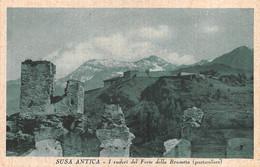"""2252"""" SUSA -ANTICA (TORINO) I RUDERI DEL FORTE DELLA BRUNETTA (PARTICOLARE) ANNI 30 - Autres Villes"""