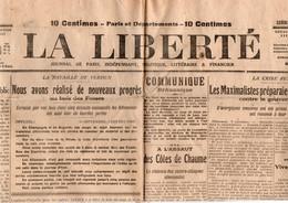 Journaux - Quotidiens > 1900 - 1949  Non Classés La Liberté Verdun Bois Des Fosses Septembre 1917 - Unclassified