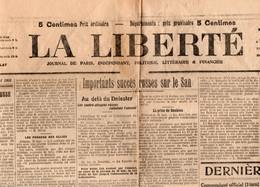 Journaux - Quotidiens > 1900 - 1949  Non Classés La Liberté Succes Russe Sur Le San Juin 1915 - Unclassified