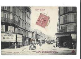 75 - PARIS - 10 Eme Rue Chateau Landon Prise De La Rue Lafayette Animé Auto Petite Tache Sinon Bon Voir Scan - Distretto: 10