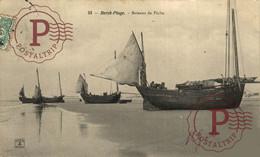 BERCK PLAGE BATEAUX DE PÊCHE Ship Navy Navire Boat - Velieri