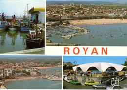 17 Charente Maritime Royan Le Port De Peche Vue Generale Le Marche 1991 Multi Vue Bateau Barque Voiture Automobile - Royan