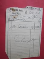 BOUDRAA SADEK TEBESSA ALGÉRIE à SAMUEL TENOUDJI-JUDAICA Facture-Document Commercial ALIMENTATION GÉNÉRALE COUSCOUS - Levensmiddelen